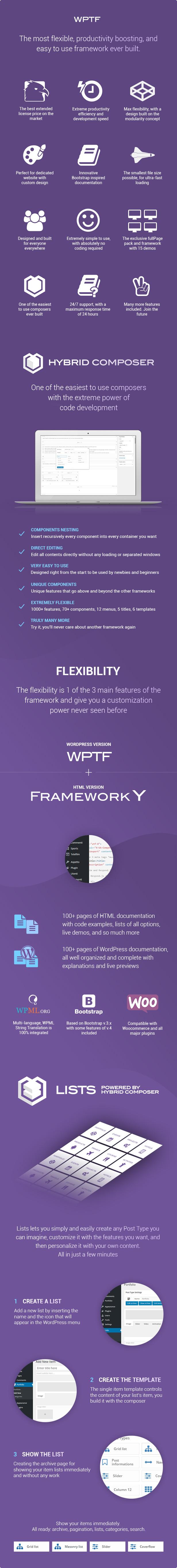 WPTF - WordPress Theme Framework & fullPage Framework 3