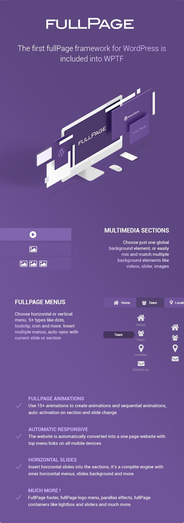 WPTF - WordPress Theme Framework & fullPage Framework 2